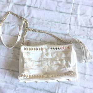 Rebecca Minkoff Bags - Rebecca Minkoff Cream/Leather/Gold Hardware Bag